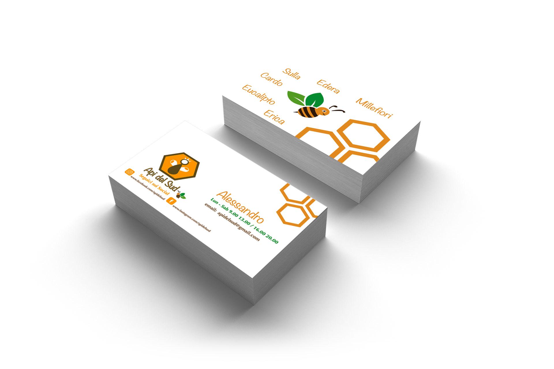 bigliettini da visita professionali online multiax italia web agency api del sud miele