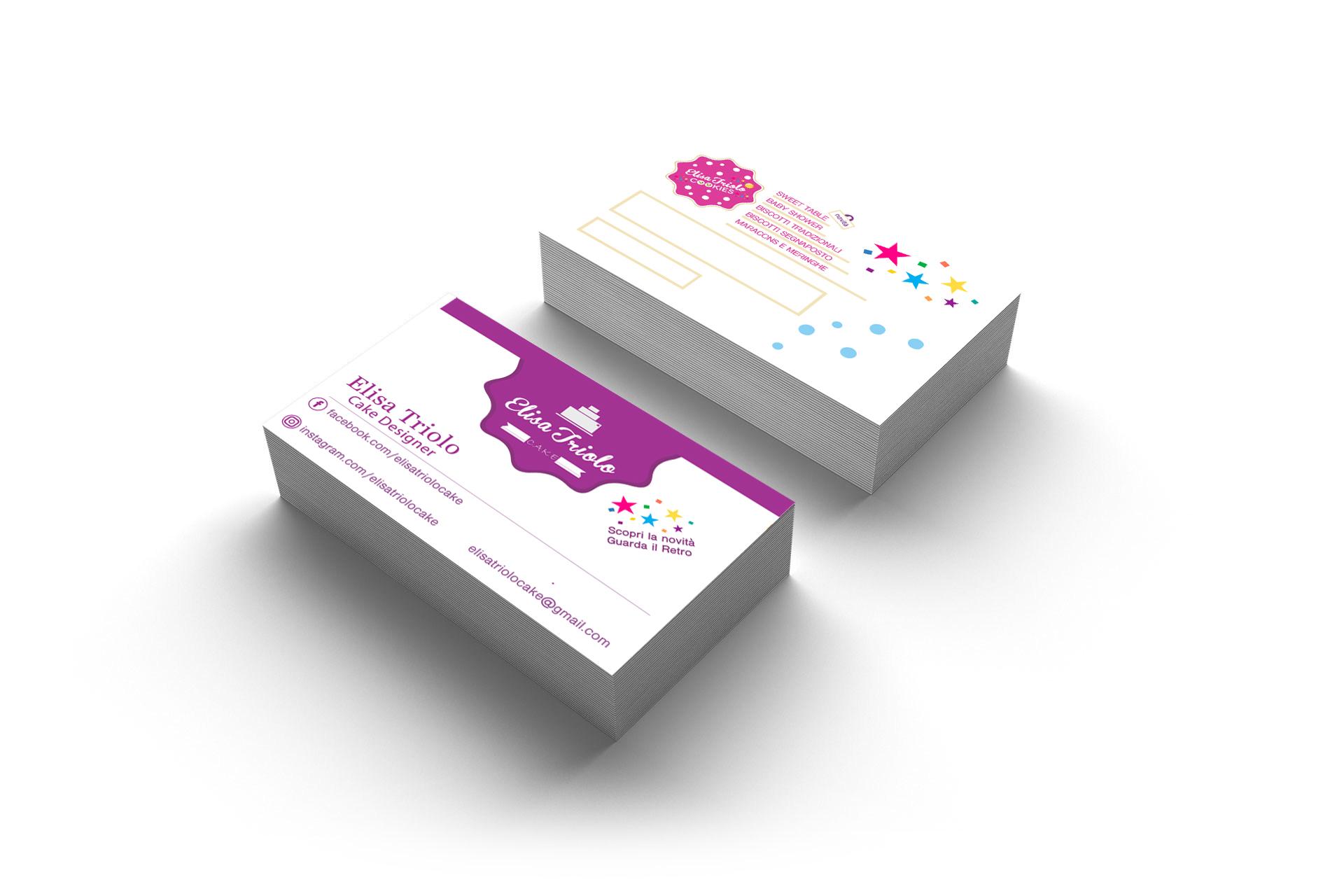 bigliettini da visita professionali online multiax italia web agency elisa triolo cake